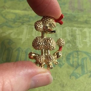 Jewelry - Gold Poodle Vintage Brooch